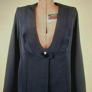 Monroe Blazer Women's Black   Long Length Size 14